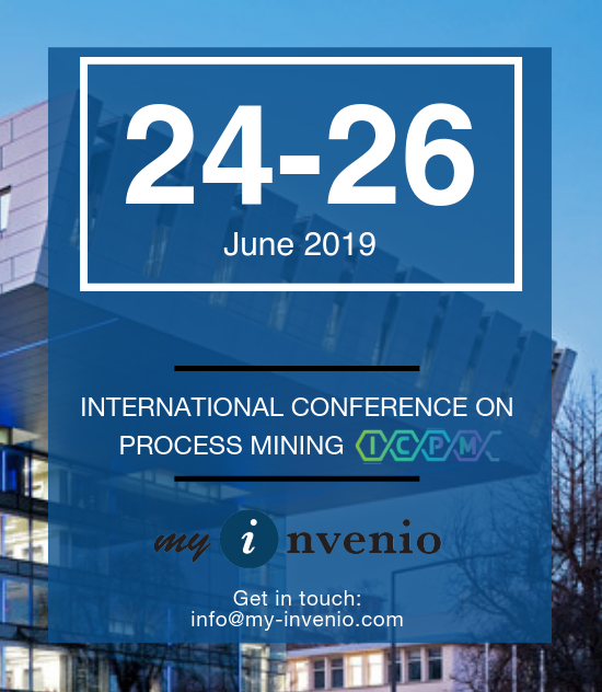 International Conference on Process Mining (ICPM) Aachen Germany 24-26 June 2019 Wil van der Aalst myInvenio Digital Twin of an Organization Cognitive Technology